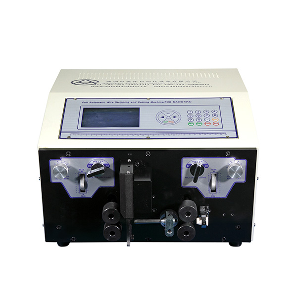 AM607-3 Automatic double coaxial wire stripping and cutting machine