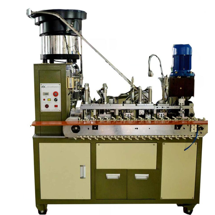AM203-F Automatic European plug crimping machine for round cable