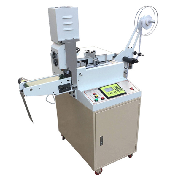 AM181 Automatic Ultrasonic Webbing Label Cable Cutting Price Machine